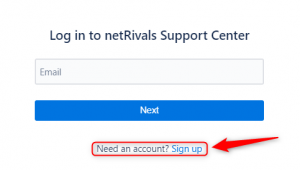support center sign up